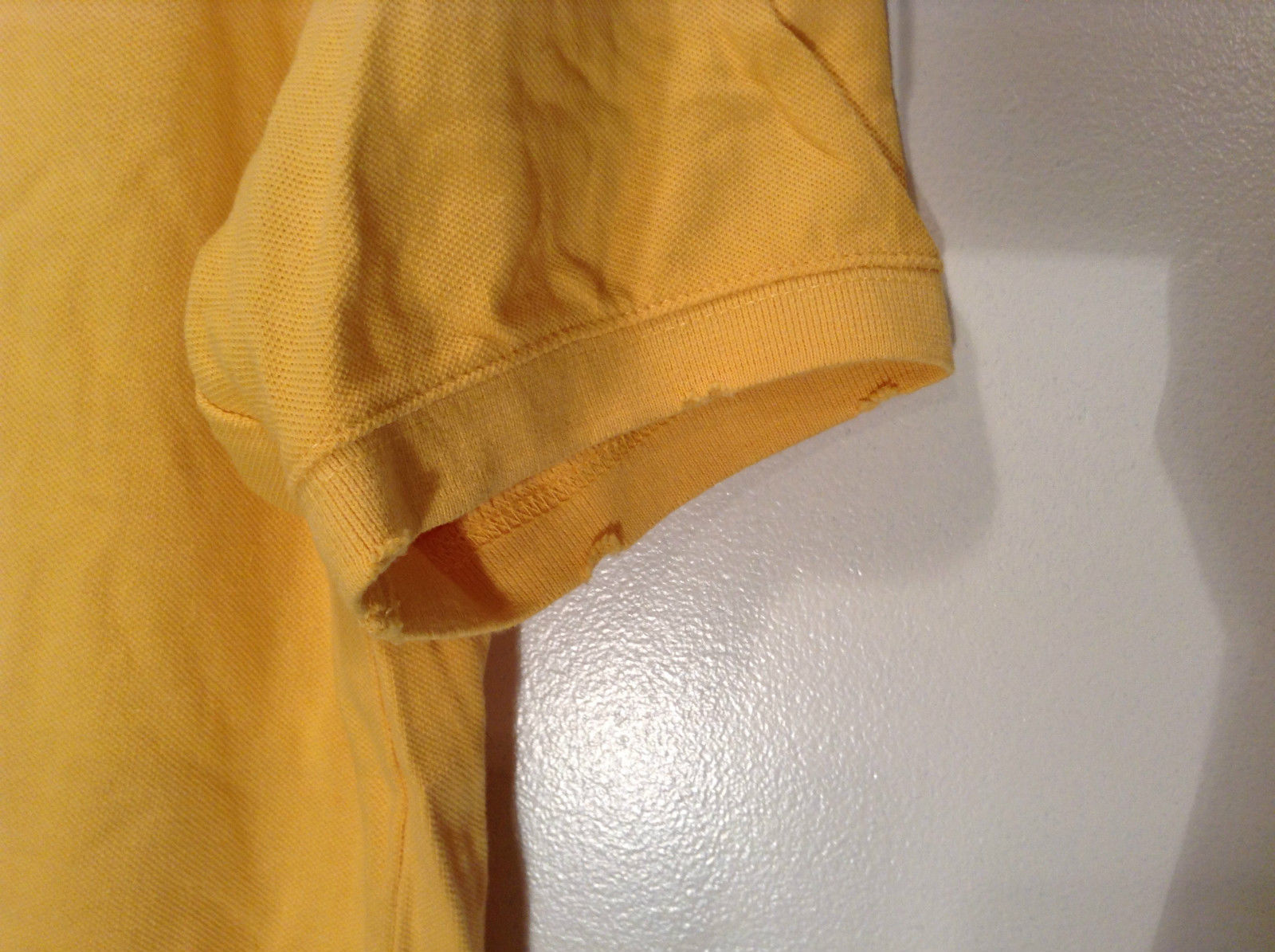 Aeropostale Size XL Short Sleeve Yellow Polo Shirt 100 Percent Cotton