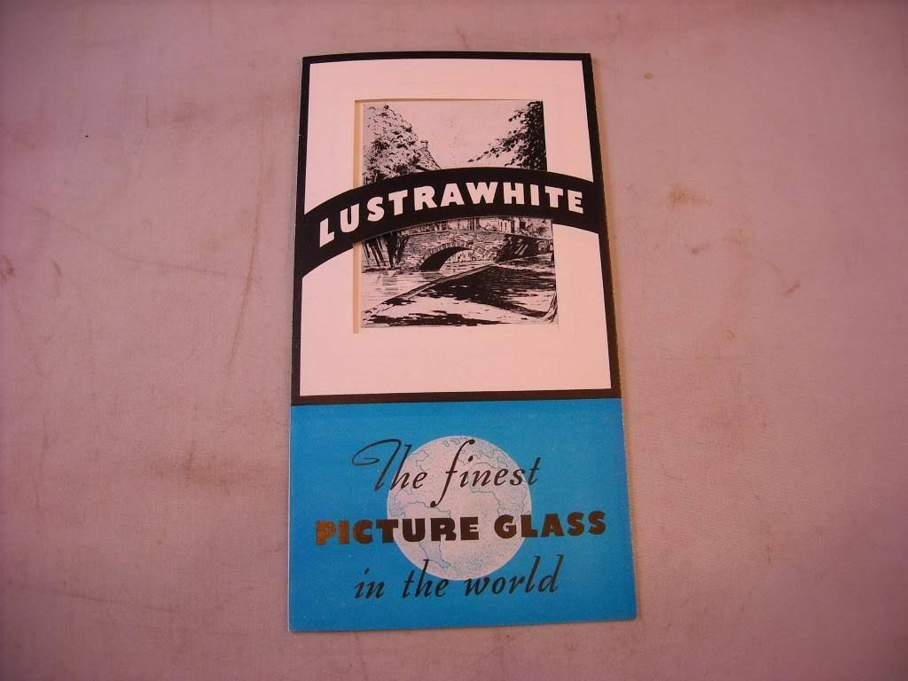 American Window Glass Pamphlet Lustrawhite the finest glass vintage Pittsburgh