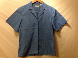 Andrew Harvey Womans Blue Button Down Shirt, Size 8