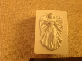 Angel trinket box  with gliding angel wings outspread and flowing gown a... - $34.64