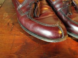 Alden Leather Tassel Loafer Burgundy Shoes Made in USA Doe Tail Heel Size 9 image 2