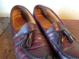 Alden Leather Tassel Loafer Burgundy Shoes Made in USA Doe Tail Heel Size 9 image 3