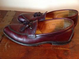 Alden Leather Tassel Loafer Burgundy Shoes Made in USA Doe Tail Heel Size 9 image 5
