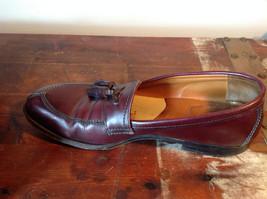 Alden Leather Tassel Loafer Burgundy Shoes Made in USA Doe Tail Heel Size 9 image 6