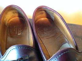 Alden Leather Tassel Loafer Burgundy Shoes Made in USA Doe Tail Heel Size 9 image 4