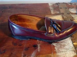 Alden Leather Tassel Loafer Burgundy Shoes Made in USA Doe Tail Heel Size 9 image 7