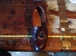 Alden Leather Tassel Loafer Burgundy Shoes Made in USA Doe Tail Heel Size 9 image 8