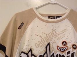 Akademiks Sport Short Sleeve 100 Percent Cotton Sweater White Sand Brown Size M image 3