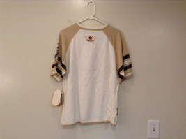 Akademiks Sport Short Sleeve 100 Percent Cotton Sweater White Sand Brown Size M image 2