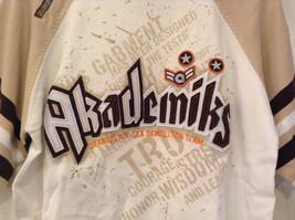 Akademiks Sport Short Sleeve 100 Percent Cotton Sweater White Sand Brown Size M image 4