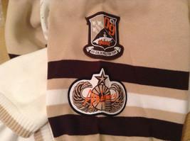 Akademiks Sport Short Sleeve 100 Percent Cotton Sweater White Sand Brown Size M image 6