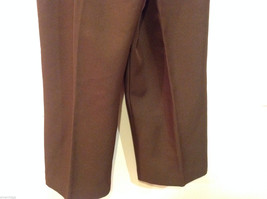Alfred Dunner Dark Brown Elastic Waist 100% Polyester Casual Pants, Size 14 image 6