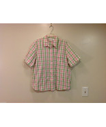 Alfred Dunner Woman Summer 100% Cotton Short Sleeve Plaid Shirt, Size 18W - $39.99