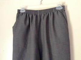 Alfred Dunner Light Gray Dress Pants Elastic Waistband Size 10 image 2