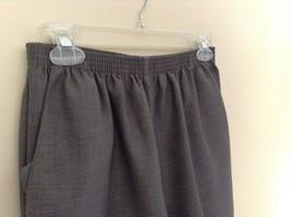 Alfred Dunner Light Gray Dress Pants Elastic Waistband Size 10 image 5