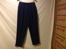 Alfred Dunner Womans Navy Blue Pants, Size 16