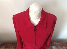 Amanda Smith Short Red Zipper Dress Jacket Perfect Condition Size 6 image 3