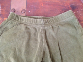 American Apparel Cute Infant Green Elastic Waist Pants Size 12 to 18 Months image 2