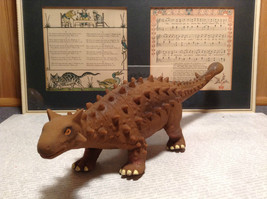 Ankylosaurus Geo Central Brown Rubber Toy Dinosaur New with Tag