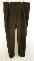 Andrew Fezza Brown Pleated Front Dress Pants Good Condition Size 40 by 32