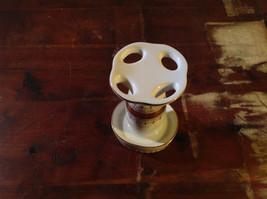 Andre Richard Porcelain Gold Trim Toothbrush Holder Made In Japan image 3