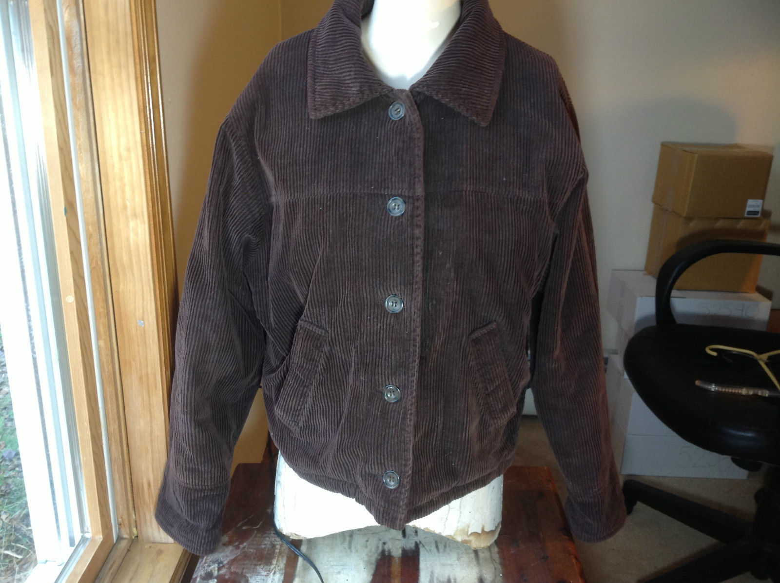 Andy Jones Brown Corduroy Woman's Jacket Size M