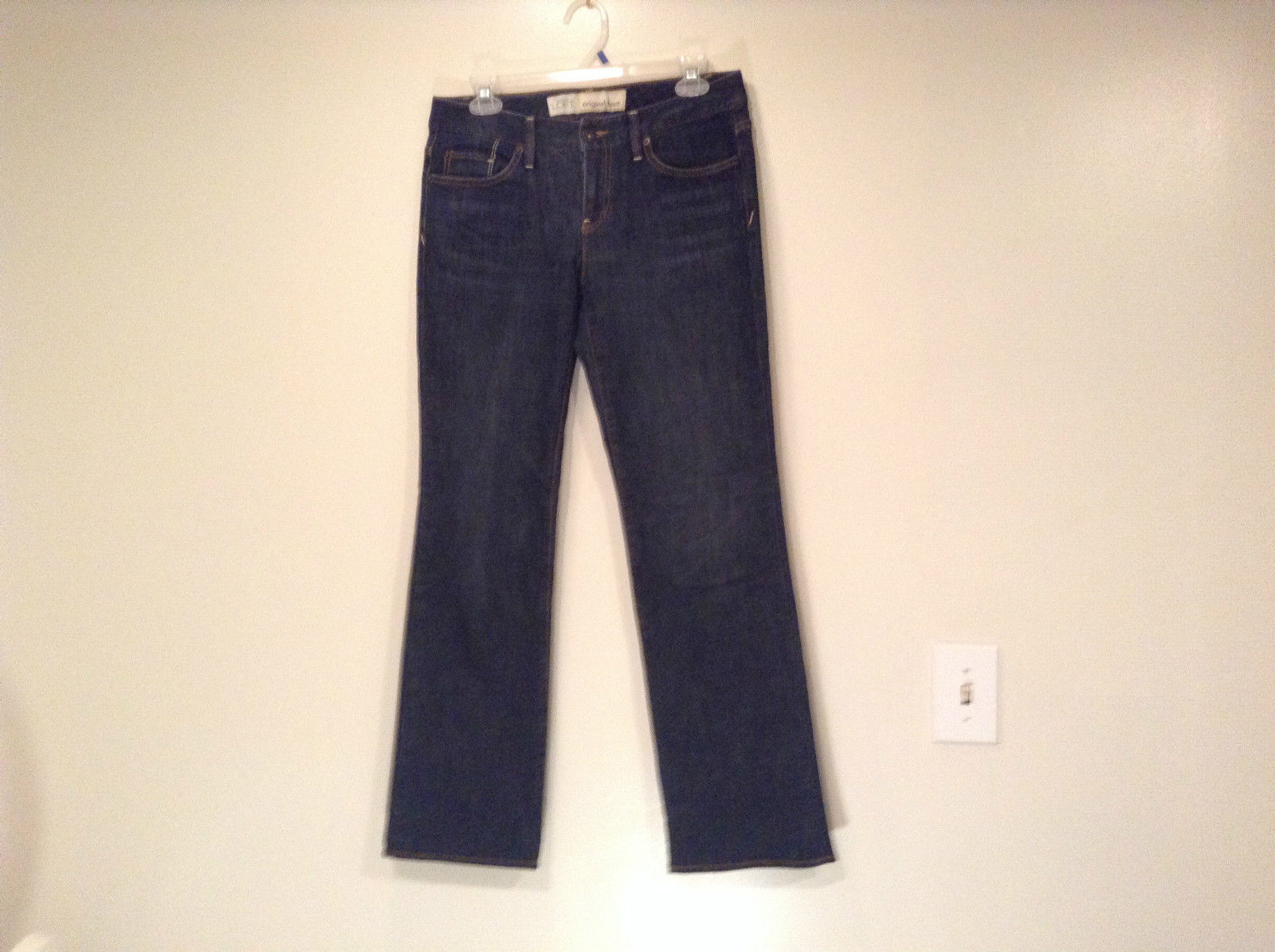 Ann Taylor LOFT Original Dark Blue Jeans Boot Cut Low Rise Size 2