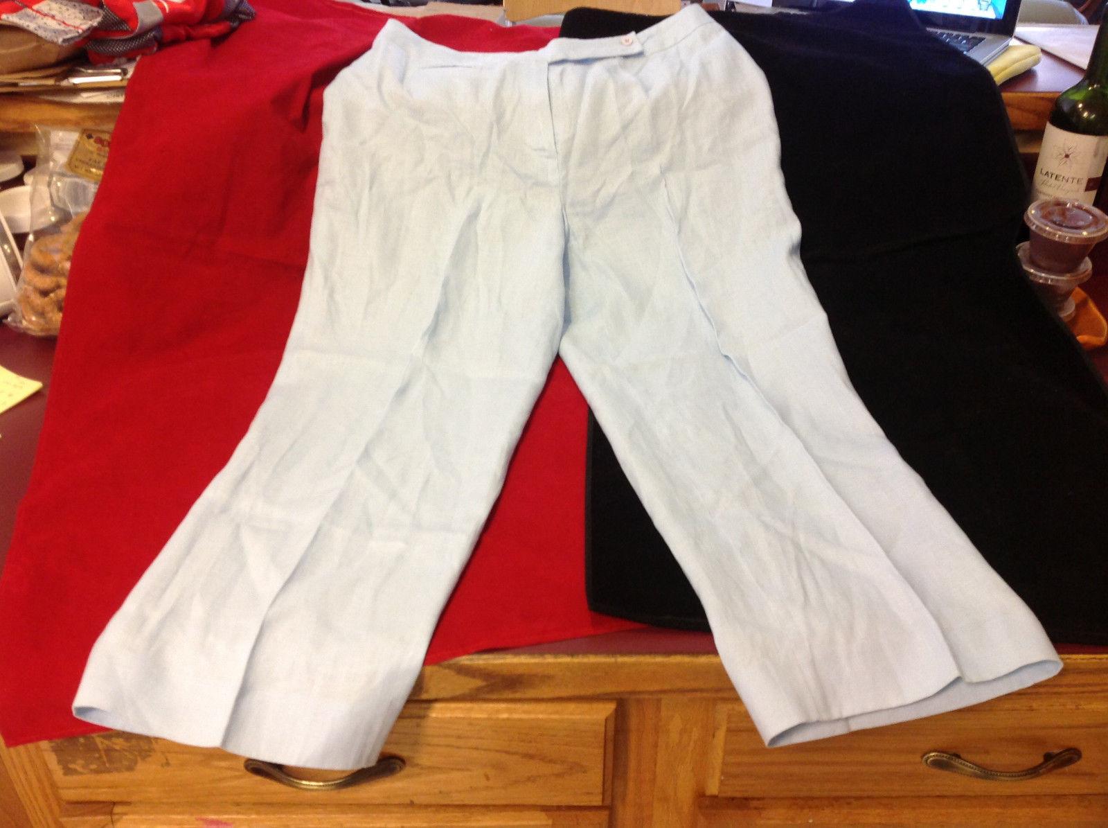 Ann Klein Brand Womens Light Blue Pants size 10