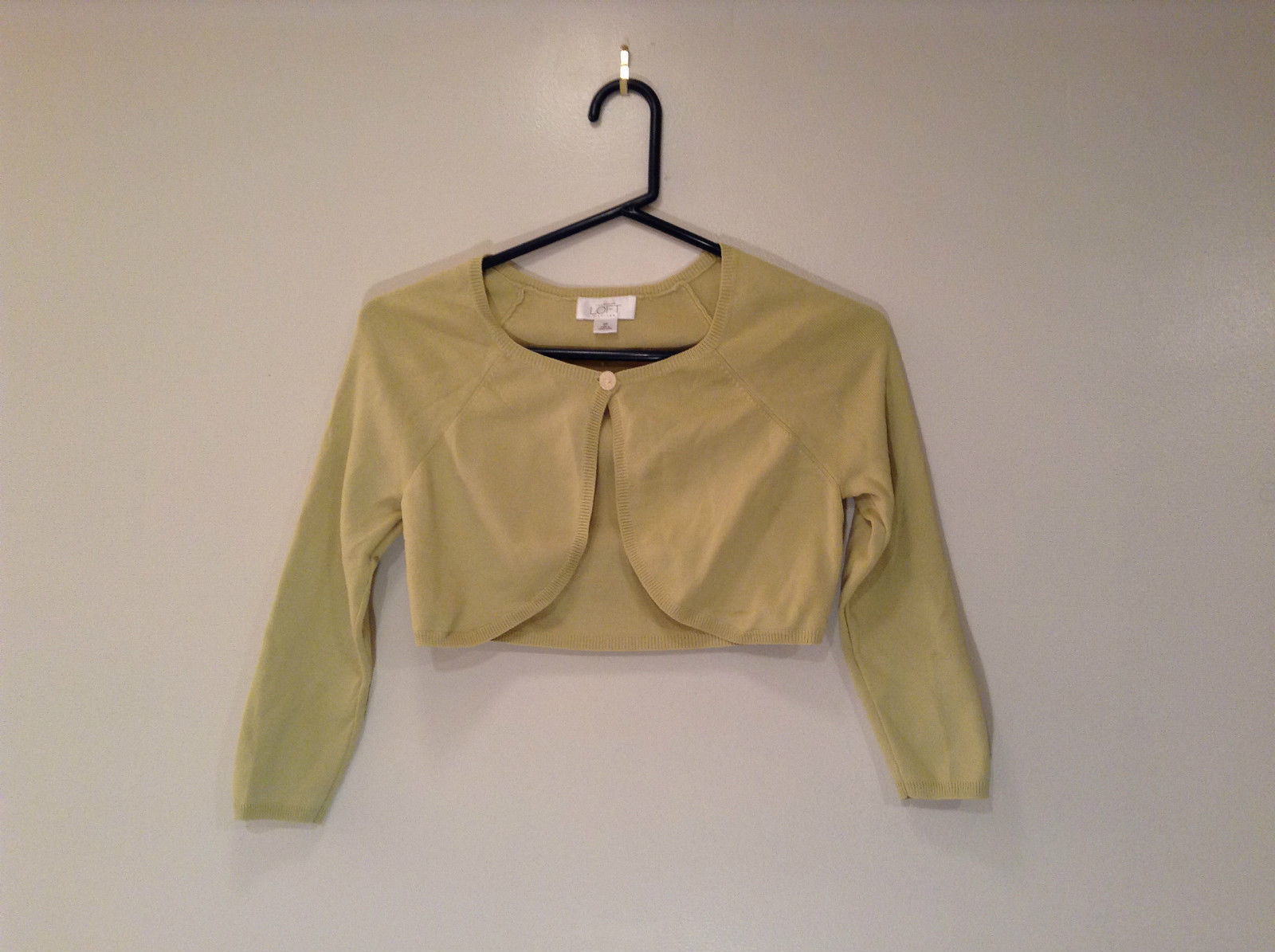 Ann Taylor LOFT Petites Size SP Lemon Green Sweater Bolero Top