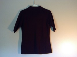 Ann Taylor Loft Brown Short Sleeve Turtleneck Shirt Size Medium