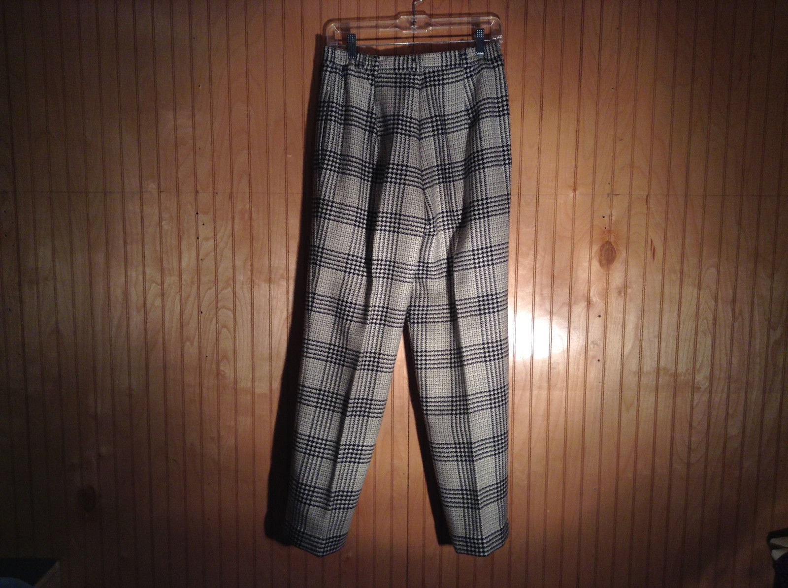 100 Percent Pure Wool Plaid Dress Pants by Cassandra Made in USA Size 12