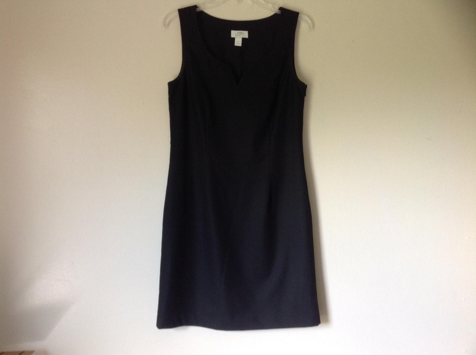 Ann Taylor Loft Little Black Sleeveless Dress Scoop Neck Zipper Closure Size 6