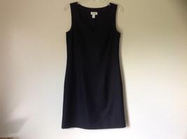 Ann Taylor Loft Little Black Sleeveless Dress Scoop Neck Zipper Closure Size 6 image 1