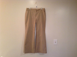 Ann Taylor Loft Tan Casual Pants Flared Bottoms Back Pockets Size 10P