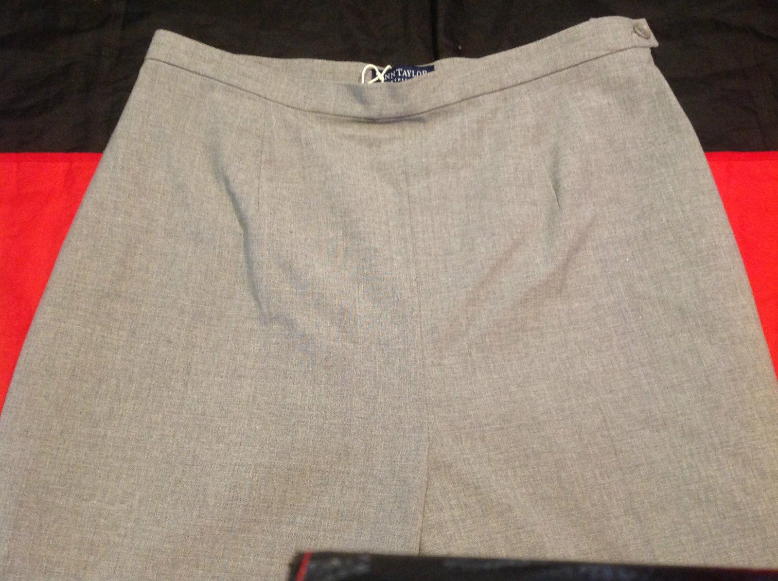 Ann Taylor Size 10 Stretch Dress Pants Heather Gray