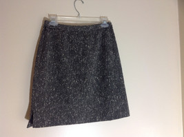 111 Style Black White Peppered Pencil Skirt Zipper and Button Closure Size 10 image 5