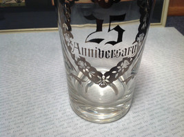 12 Piece Silver Overlay Tall Water Glass Cups with Coasters 25th Anniversary image 5