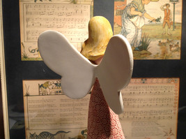Angel with Bird Mira Flora Handcrafted Resin Angel Figurine image 4