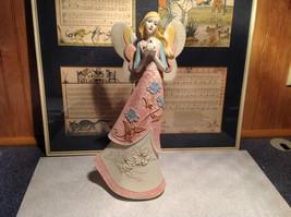 Angel with Bird Mira Flora Handcrafted Resin Angel Figurine image 2