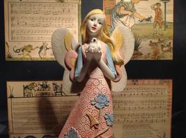 Angel with Bird Mira Flora Handcrafted Resin Angel Figurine image 3