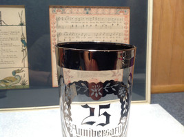 12 Piece Silver Overlay Tall Water Glass Cups with Coasters 25th Anniversary image 6