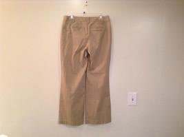 Ann Taylor Loft Tan Casual Pants Flared Bottoms Back Pockets Size 10P image 2