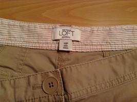 Ann Taylor Loft Tan Casual Pants Flared Bottoms Back Pockets Size 10P image 7