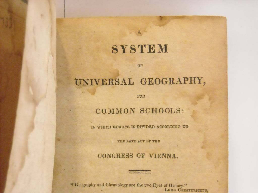 Antique 1815 System of Universal Geography Dwight