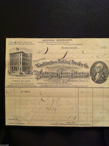 Antique 1894 receipt Washington Baking Powder Co Newburgh New York framed