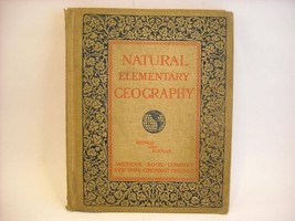 Antique 1897 Natural Elementary Geography Textbook w maps