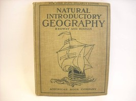 Antique 1911 Textbook Natural Introductory Geography with maps