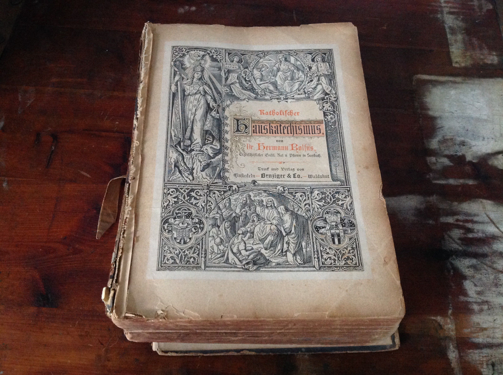 Antique Book Katholischer Hauskateerchismus by Dr. Hermann Rolfus in German