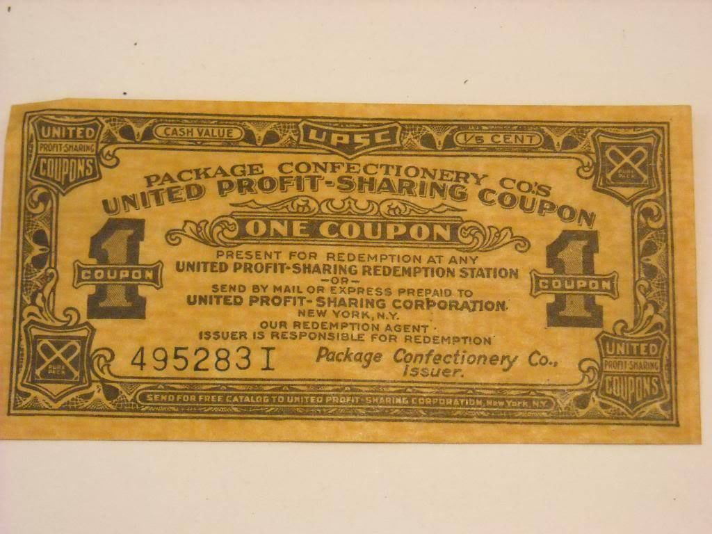 Antique Coupon from United Profit Sharing Coupons