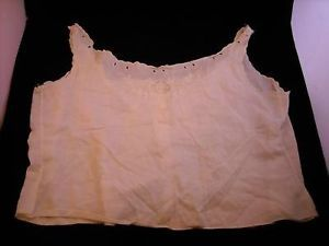 Antique Camisole Top w lace and embroidery